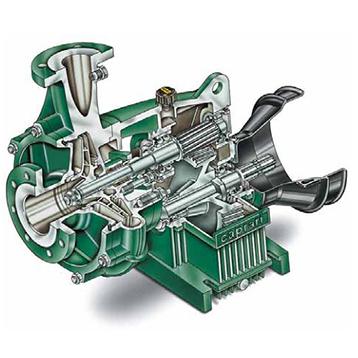 Pompa dupa tractor Pompă centrifuga cu axa orizontal, corp cu unu sau doua rotoare în serie. Aspiratie axiala.Axul pompei si pinionul sustinute de două lagare.